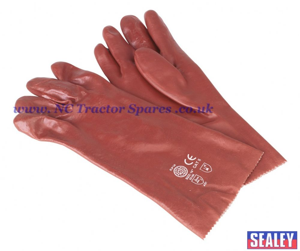 PVC Chemical Handling Gauntlets 355mm Cuffed Pair